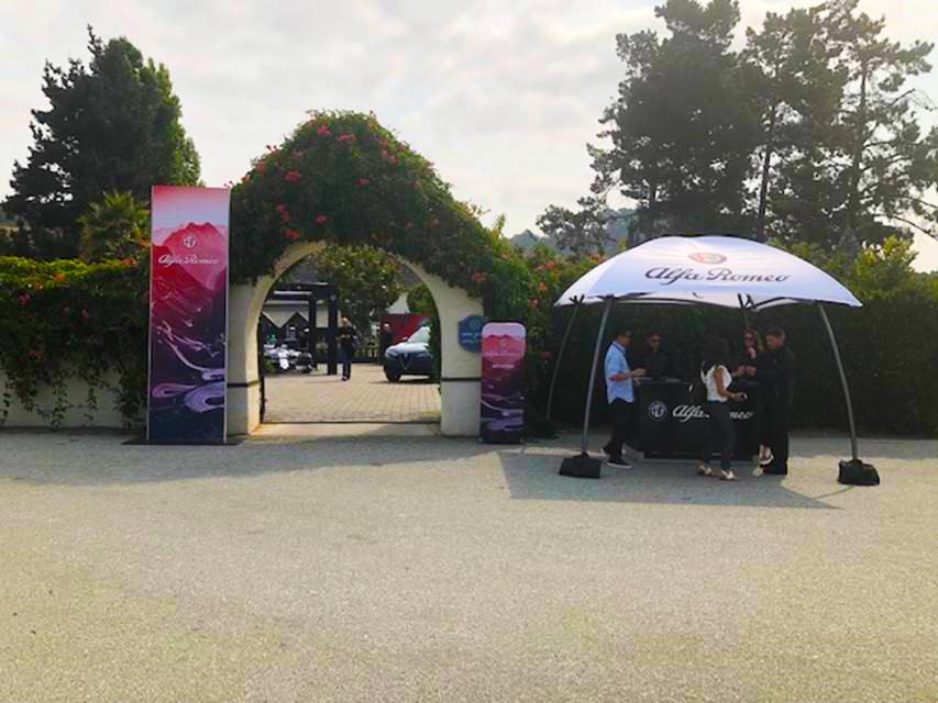 Alfa Romeo Ride-and-Drive entrance at Folktale Winery