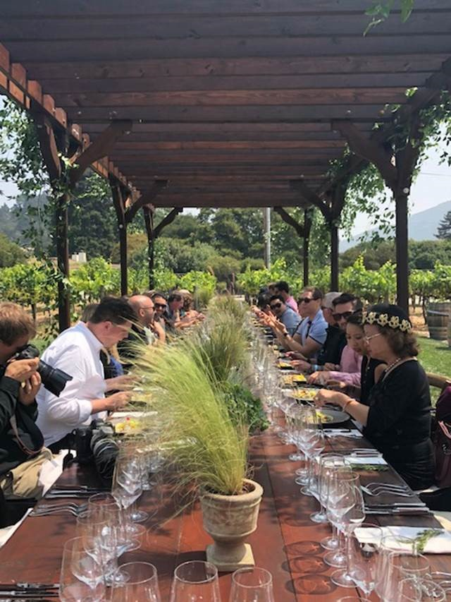 Alfa Romeo media partner, The Wall Street Journal, hosted a private lunch for its WSJ+ members in the Rose Garden