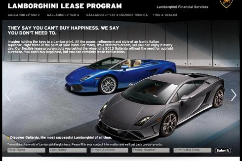 Lamborghini Lease Program Centigrade