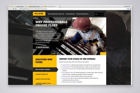 Custom Branded Web Pages for Fluke Distributors | Centigrade